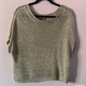 Silver metallic Vince knitted sweater